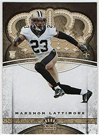 2017 Panini Crown Royale Football RC  98 Marshon Lattimore Saints 635d0e446
