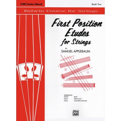 Applebaum, Samuel - First Position Etudes For Strings - Teacher's Manual (Applebaum Position Samuel First)