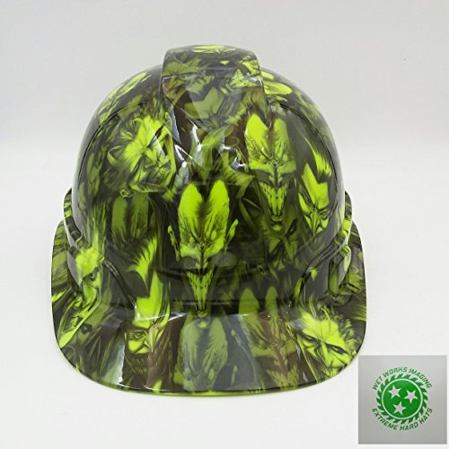 Batman Hard Hat (Wet Works Imaging Customized Pyramex Cap Style Green Jokers Gone Wild Hard Hat With Ratcheting)