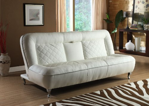 Amazon.com: Classic Car Seat Inspired Futon Sofa Convertible (White):  Kitchen U0026 Dining