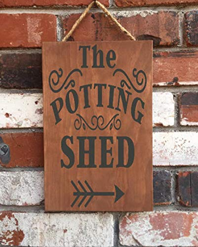 CELYCASY The Potting Shed - Cartel de Madera - Jardín ...