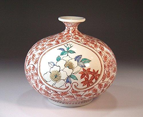 有田焼伊万里焼の陶器花瓶牡丹唐草|贈答品|ギフト|記念品|贈り物|陶芸家 藤井錦彩 B00LARS1IK
