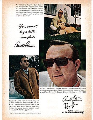 1969 Arnold Palmer Sunglasses-Bausch + Lomb-Original Magazine Ad- - Ads Sunglasses
