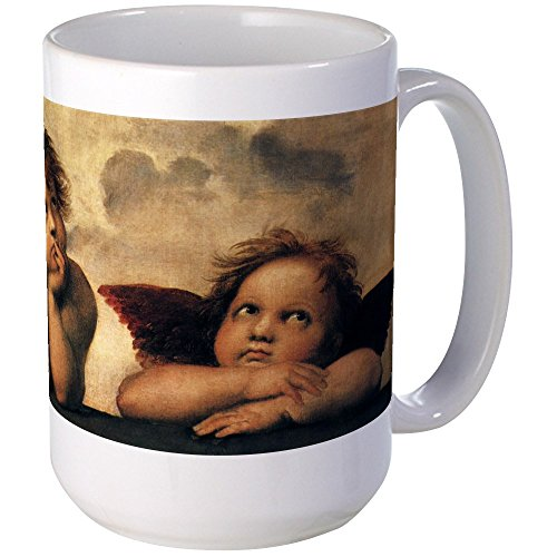 CafePress - Angels By Raphael Large Mug - Coffee Mug, Large 15 oz. White Coffee - Large Mug Angel