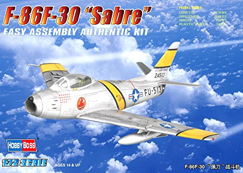 Hobby Boss F-86F-30 Sabre Airplane Model Building Kit (American North Sabre F-86f)