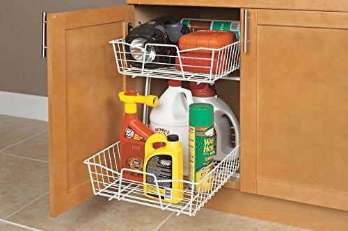 ClosetMaid 3609 2 Tier 14-Inch Kitchen Cabinet Organizer, White