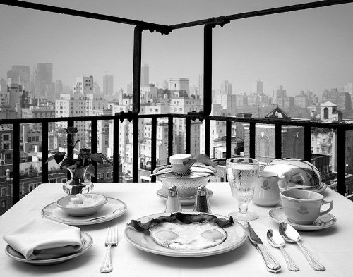 18 x 23 in. Room Service, Atop the Carlisle Hotel, New YorK