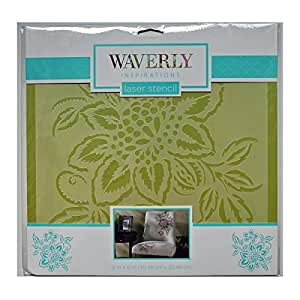 "Laser Flower Stencil - 12""x12"", by Waverly Inspirations"