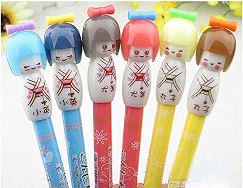 6-Cute-Creative-Gel-Ink-Penball-Point-Rollerball-Pens