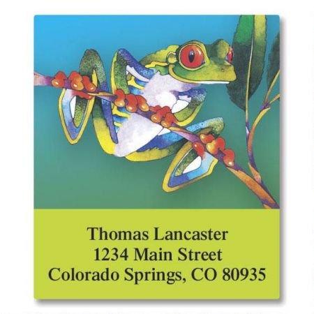 Frog Square Return Address Labels - Set of 144 1-1/8