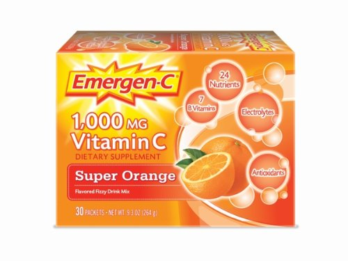 Emergen-C Super Orange, 1000 mg de vitamine C, 0,32 once, 30-comte