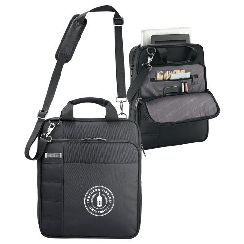 Southern Virginia Kenneth Cole Black Vertical Checkpoint Friendly Messenger 'Primary Mark' by CollegeFanGear