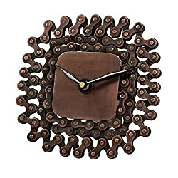 Ten Thousand Villages Recycled Bicycle Chain Table Clock 'Time to Cruise Clock'
