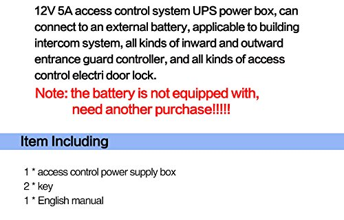 OBO Hands AC90V/260V 5A Access Control Power Supply Box for Door Locks  Backup Battery with Time Delay
