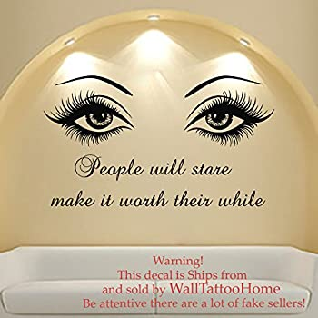Amazon.com: Wall Decal Quote Beauty Salon Make-Up Girl Woman Decals ...