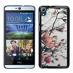 HTC Desire 826 dual Único Patrón Plástico Duro Fundas Cover Cubre Hard Case Cover - Cherry Apple Plum Tree Blossom Spring Pink
