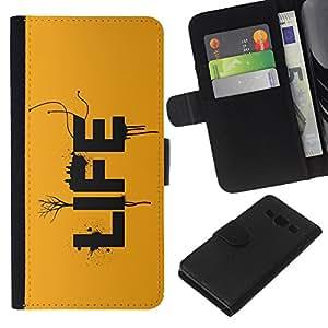 EJOY---La carpeta del tirón la caja de cuero de alta calidad de la PU Caso protector / Samsung Galaxy A3 / --VIDA