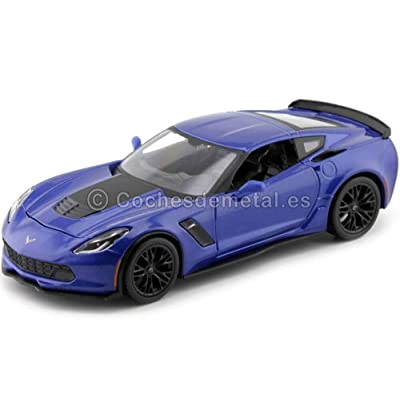 Chevrolet 2015 Corvette C7 Z06 Blue 1/24 by Maisto 31133: Toys & Games