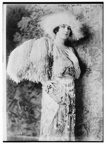 Photo: Florence Walton,feathers,dress - Florence Jewelry