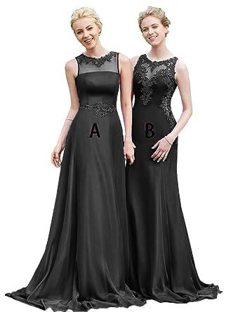 OkayBridal Women\'s Long Chiffon Bridesmaid Dresses ...