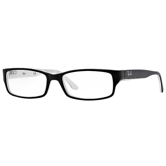 06f5f0d0889ee Ray-Ban RAYBAN 5114 Monturas de gafas Black White 54 Unisex-Adulto  Amazon. es  Ropa y accesorios