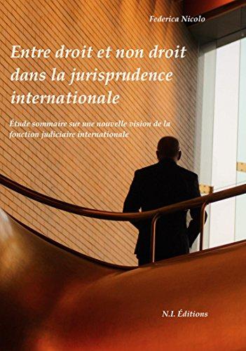 Entre droit et non droit dans la jurisprudence internationale: Étude sommaire sur une nouvelle vision de la fonction judiciaire internationale (French Edition)