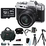 Fujifilm X-T10 with XF18-55mm F2.8-4 R LM OIS Digital Camera (Silver) + Sony 64GB Memory Card + Manfrotto Compact Action Tripod + Focus Camera Digital SLR Camera Bag Bundle