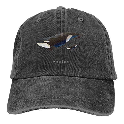 NFREYA Men Women Creative Orcas Plain Cotton Low Profile Adjustable Washed Dad Hat   Baseball Bucket Trucker -