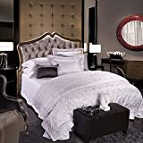 Svetanya Abstract Seamless Purple Lace Printed Pattern, Cotton + Silk Blend Duvet Cover Bedding Set - (Quilt Cover + Bed Sheet + Pillowcase). LUXURY FEEL FABRIC. 100% HIGH QUALITY SET. 68. (King)