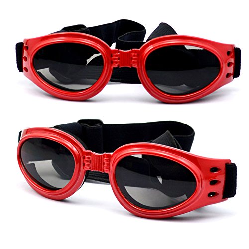 Dog Sunglasses Eye Wear UV Protection Goggles Pet Fashion Red - Sunglasses Dog Red