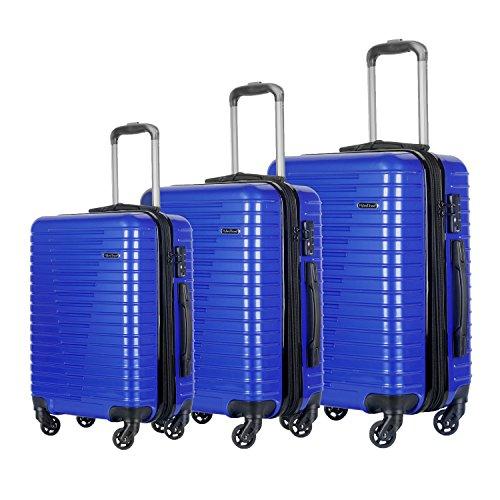 3 PC Luggage Set Durable Lightweight Spinner Suitecase LUG3 696 NAVY
