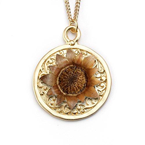 Best Christmas Gift, 14K gold plated brass mandala with the re-blooming Blessing Flower- Rose of Bethlehem, Christmas Gift for wife, Christmas Gift for daughter by The Blessing Flower (Image #2)