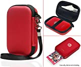 Red HP Sprocket Portable Photo Printer (Z3Z93A) protective case by CaseSack, also for Polaroid ZIP Mobile Printer, Lifeprint Photo AND Video Printer, Mesh Pocket for Photo Paper, Cable (Polyester Red)