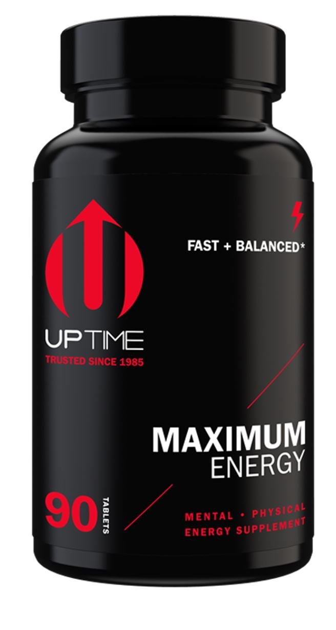UPTIME-Maximum Energy Blend Tablets-Premium Caffeine Supplement - 90ct. Bottle - Zero Calories by UPTIME