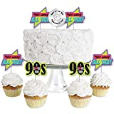 90's Throwback - Dessert Cupcake Toppers - 1990s