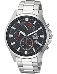 Casio Mens Edifice Quartz Stainless Steel Casual Watch, Color:Silver-Toned (Model: EFV-530D-1AVCF)