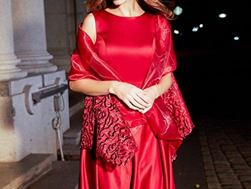 elegante paragrafo banchetto lungo matrimonio da abito atmosfera SHJJK Vestito madre da donna rosso nobile sera XL dignitoso AwPxB7qY