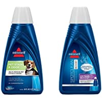 BISSELL 2X Pet Stain & Odor Portable Machine Formula, 32 ounces, 74R7 & BISSELL OXYgen BOOST Portable Machine Formula, 32 ounces, 0801