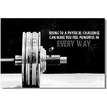 Amazon.com: 1x poster fabric bodybuilding men girl fitness workout