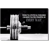 1x Póster tela Bodybuilding Hombres Girl Merchandising Citas inspiración Músculo Gimnasio de fitness Font
