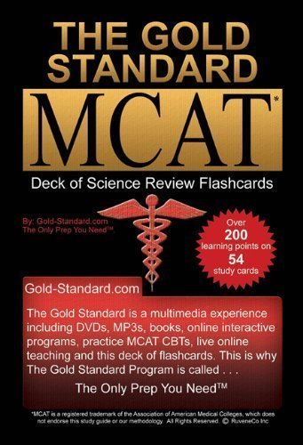 By Ferdinand MD, Dr. Brett The Gold Standard new MCAT CBT Deck of Flashcards (Science Review) (2011) Cards (Cards Deck New Flash)