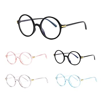 b849b7fae3 Tuscom Blue Light Blocking Glasses Anti Blue Ray Glasses Oversized Round  Circle Sunglasses Nerd Eyeglasses Frame
