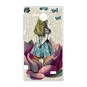 Lovely girl and butterfly Cell Phone Case for Nokia Lumia X