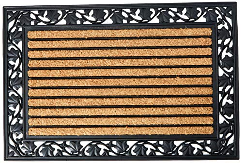 No Trax Designs C04S2436IL Ivy Leaf Cocoa Door Mat, 24