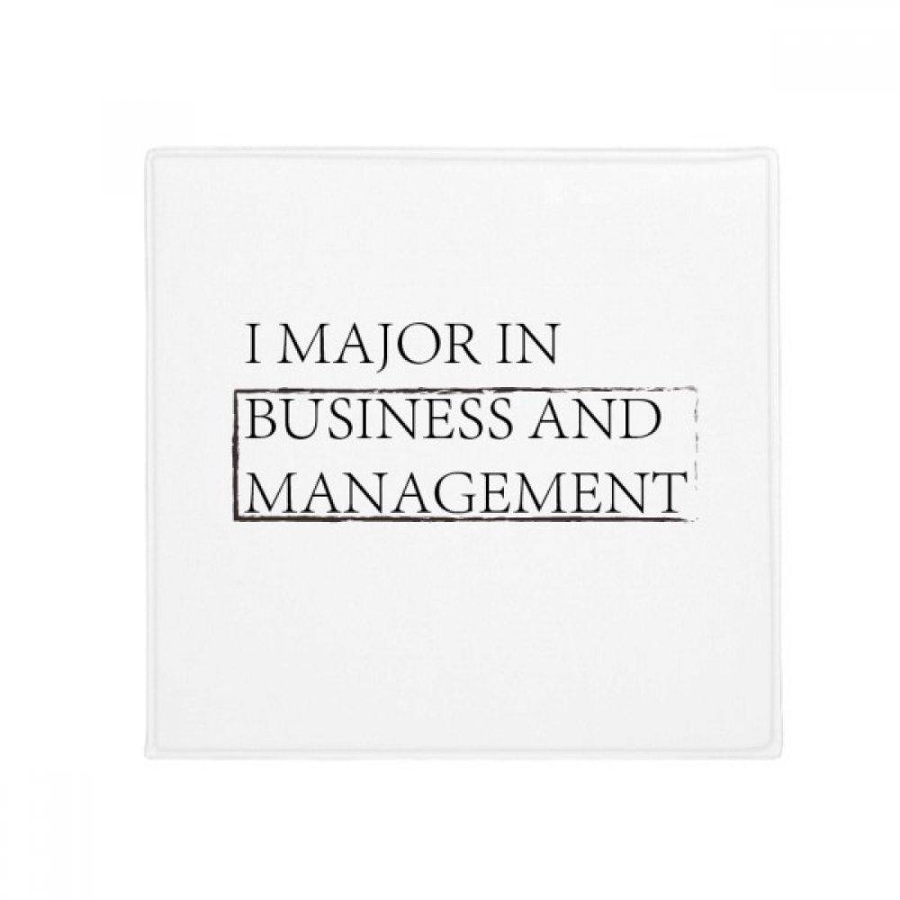 DIYthinker Quote I Major in Business and Management Anti-Slip Floor Pet Mat Square Home Kitchen Door 80Cm Gift