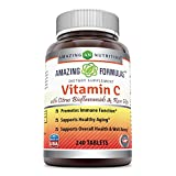Amazing Formulas Vitamin C with rose hips and citrus bioflavonoids – 240 Tablets- Non-GMO, Vegan – Promotes Immune Function* – Supports Healthy Aging* – Supports Overall Health & Well-Being* Review