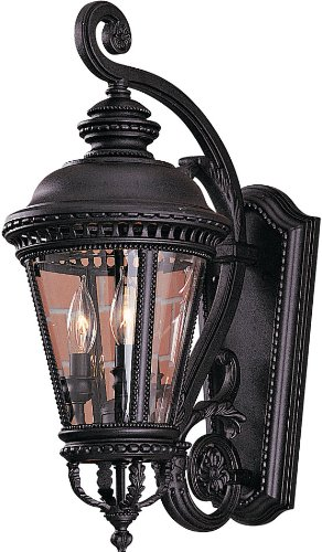 - Feiss OL1901BK Castle Outdoor Patio Lighting Wall Lantern, Black, 3-Light (9