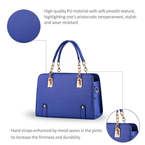 NICOLE&DORIS nuevas mujeres del bolso de hombro cadena de moda bolsa de mensajero del monedero Navy Blue