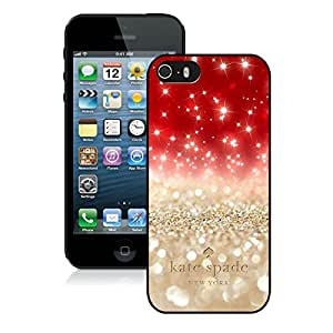 Customize iPhone 5 5S Protective Skin Kate Spade New York Hardshell Case for iPhone 5s 5th Generation Cover 101 Black