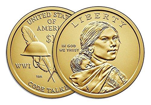 (2016 P & D Sacagawea Dollar Native American Brilliant Uncirculated)